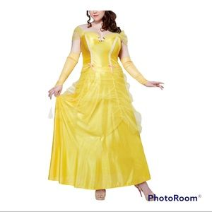 Adult Belle Costume with 2 pairs Gloves XL